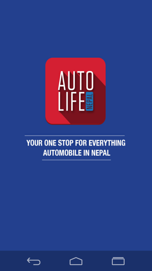 Autolife Nepal App | Welcome Screen